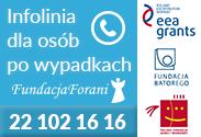 Ikona przekierowujaca na strone fundacji Forani - Infolinia dla osób po wypadkach tel. 22 102 16 16